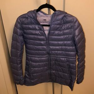 Uniqlo ultra light down hooded jacket!!